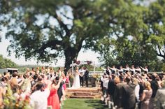 love that everyone is praying over the couple!!   Santa Margarita Ranch Wedding: Kaitlin + Jason