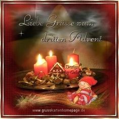 3 Advent 2018 Whatsapp - Advent - Home flw Advent Candles, Christmas Candles, Christmas Ornaments, Anniversary Decorations, Birthday Decorations, Christmas Greetings, Merry Christmas, Xmas, Candle Art