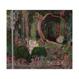 Trademark Fine Art 'The New Generation' Canvas Art by Jan Toorop, Size: 35 x Green Artist Canvas, Canvas Art, Canvas Size, Pink Trees, Baby Clothes Shops, Baby Shop, Pink And Green, Giclee Print, Art Pieces