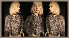 Vintage Leopard print faux fur jacket coat top SALE 30% Off