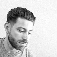 renjtown_and tapered sides and medium length hair on top top classic haircut blow dried back