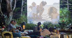 DIY Backyard Movie Screen