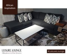 Love blending modern with traditional African flare? Grab our Clifton Corner suite and match it with an Nguni rug. Lounge, Upholstered Furniture, Flare, Corner, Rug, African, Couch, Traditional, Inspiration