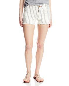 NEW Lucky Brand Womens Shorts Denim Patch Pockets Stripe Cutoffs Sz 29 $79.50 #LuckyBrand #Denim