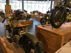 WW2 Army bikes at the Barber museum