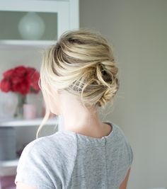 Stacked Reverse French Twist hair tutorial // by Kate Bryan at the Small Things Blog