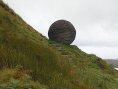 """This spectacular karst formation is called the Sphere or sometimes known as the Globe is part of the Knockan Crag, a line of cliffs in Assynt,  Scotland. The name means ""crag of the small hill""."""