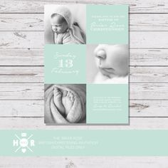 Printable - The 'Briar Rose' Modern Baptism | Naming Ceremony | Christening | First Communion Invitation | Multiple Photo by hudsonmeetrose on Etsy https://www.etsy.com/listing/271196405/printable-the-briar-rose-modern-baptism