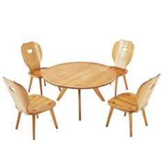 Lounge Set by Carl Malmsten in Solid Pine   From a unique collection of antique and modern dining room sets at http://www.1stdibs.com/furniture/tables/dining-room-sets/
