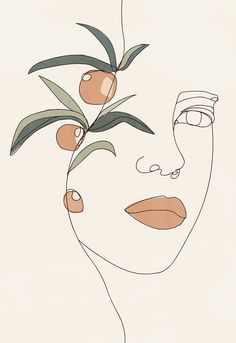 Abstract Face Art, Abstract Lines, Art And Illustration, Illustrations, Minimal Art, Flower Sketches, Art Plastique, Line Drawing, Printable Wall Art