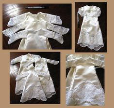 Infant burial gowns made from donated wedding dresses.  Delicate and perfect.