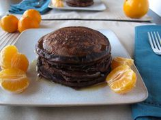 Orange Chocolate Pancakes. Fluffy, citrusy, decadent.