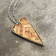 Recycled wine cork mosaic necklace by ZonaShermanDesigns on Etsy Wine Craft, Wine Cork Crafts, Antique Copper, Antique Silver, Recycled Wine Corks, Driftwood Jewelry, Bronze, Photo Charms, Mosaic Glass