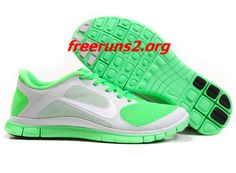 517f51eaddba2 Pure Platinum White Poison Green Nike Free 4.0 V3 Women s Running Shoes   cheap  green