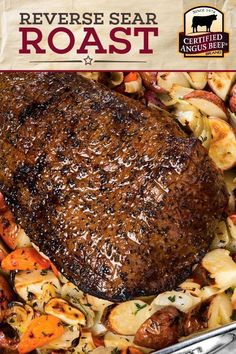 Reverse Sear Bottom Round Roast with Roasted Root Vegetables - Start preheating your oven! You're going to want to make this Reverse Sear Bottom Round Roast wit - Rump Roast Recipes, Best Roast Beef Recipe, Oven Roast Beef, Roast Beef Dinner, Best Beef Recipes, Beef Recipes For Dinner, Cooking Recipes, Round Roast Oven Recipe, Cooking Ideas