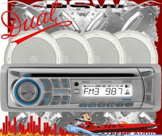 MCP204 DUAL Marine Stereo CD/USB/AUX-in/FM/AM 100 Watt with Remote & 4-speakers