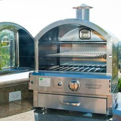 Pacific Living Outdoor Built-In Gas Oven - Outdoor Pizza Ovens at Hayneedle Outdoor Gas Pizza Oven, Outdoor Kitchen Bars, Outdoor Kitchen Design, Outdoor Kitchens, Backyard Kitchen, Outdoor Rooms, Backyard Patio, Backyard Landscaping, Ovens