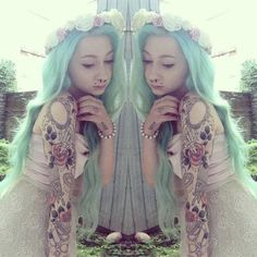 Pastel hair, flowers, tattoos and lace dresses. These are are few of my favorite things..