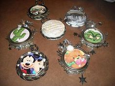 Homemade Mason Jar Ornaments - Make from old Christmas Cards and perfect for the kids and adults any age to make