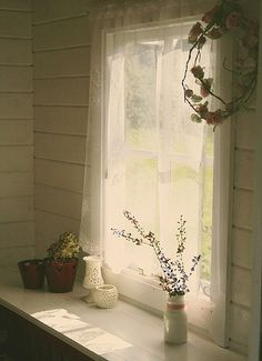This window made me feel warm and young.  Drinking coffee, waiting for my kids to wake up,