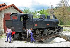 414 Chemin du fer du Vivarais Steam at Lamastre, France by Richard Behrbohm Location Map, Photo Location, Round House, France, Steam Locomotive, Photos, Train, Paths, Iron