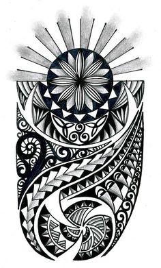 tongan tribal drawings polynesian tribal design with celtic - tribal tattoo sketch Maori Designs, Stammestattoo Designs, Polynesian Tattoo Designs, Polynesian Art, Tribal Tattoo Designs, Polynesian Tattoo Sleeve, Maori Leg Tattoo, Celtic Tribal Tattoos, Tattos Maori