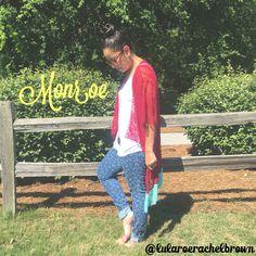 LuLaRoe Monroe • Kimono • Floral • Lace • Floral Jeans • Fringe •   Instagram: @lularoerachelbrown