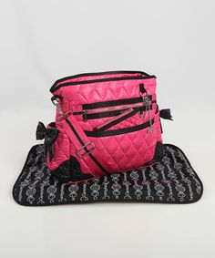 Loving this Caramellles Hot Pink The Truffle Bow Diaper Bag on #zulily! #zulilyfinds