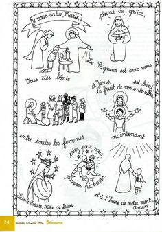 "Prière à colorier ""Je vous salue Marie"" Prayers For Children, Just Pray, Religious Education, Teaching French, Continents, Communion, Catholic, Coloring Pages, Activities"