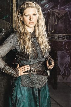 mine still Season 2 History 500 History Channel vikings chainmail her outfit armour Katheryn Winnick Lagertha Historyvikings mine:still Shie...