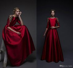 Red Stain Luxury Crystal Long Evening Formal Dresses 2018 Middle East Kaftan Moroccan Caftan Half Sleeve Prom Dress Chana Marelus Mermaid Wedding Dress Long Sleeve Wedding Dresses Lace Wedding Dress Online with $169.15/Piece on Kazte's Store | DHgate.com
