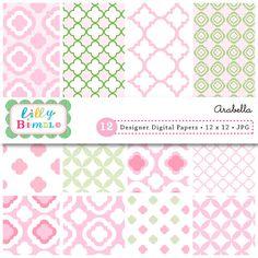 Pink Quatrefoil Paper