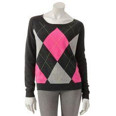 Apt. 9 Argyle Cashmere Sweater