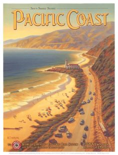 Costa do Pacífico Impressão artística