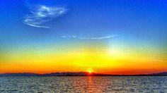 【昨年の今日】 19 Oct. 6:37 博多湾晴天の日の出です。