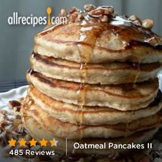 Oatmeal Pancakes II from Allrecipes.com #grain #myplate