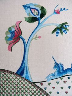 Jacobean Crewelwork by RSN Student Sarah Coombs