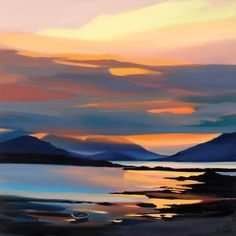 Red on the Cuillin Art Print by Pam Carter Easyart.com