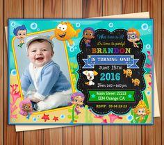Bubble Guppies party photo invitation for by BeautifuldigitalMX