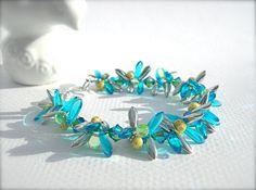 Glass Bead Bracelet by KatieBugCreations4U on Etsy, $16.00