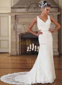 Satin Lace Wedding Dress
