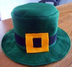 hat sewing pattern to make a leprechaun hat, going to make it black for professor Layton!