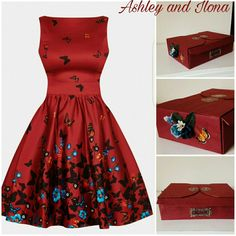 Red Tea Vintage Dress is cute and standout! It comes with a gorgeous  matching box 53ba9b6acf
