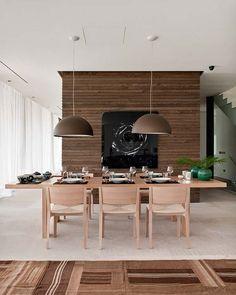 Em tons neutros.. A mesa de jantar pode ser integração! #home #decor #interior #design / Att. EO