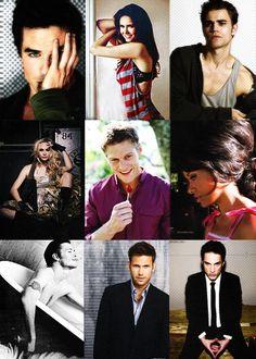 TVD Cast- Damon, Elena, Stefan, Caroline, Matt, Bonnie, Klaus, Alaric, Tyler.