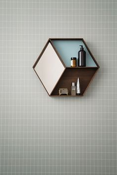 You can happily replace the cumbersome mosaic in your powder room with it's lookalike wallpaper.  Image courtesy, www.fermliving.com