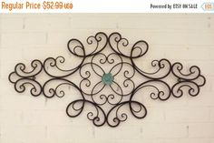 ON SALE Scrolled Wrought Iron // Shabby Chic by Theshabbyshak