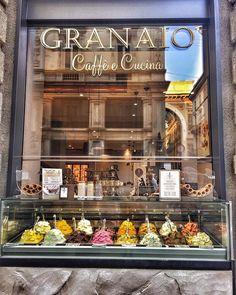 Granaio Caffè e Cucina - Duomo  #milan#milano#italy#italianicecream#cafe#instaphoto#instafood#granaio#granaiocaffecucina#duomo#piazadelduomo#gelato