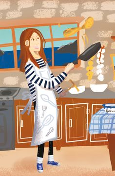 La chandeleur © Pioupiourico - illustration Georgia Noël-Wolinski. #culturefrançaise #france #patrimoine #jeu #enfant #famille #transmission #tradition #7familles #familyfirst