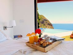 Breakfast in bed at this vacation rental in Portugal! #Travel